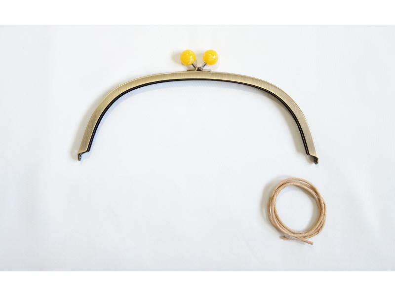 ◆くし形バッグ用玉付口金[BK-242](2118)